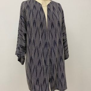 A original 80's zig zag pattern blue kimono jacket